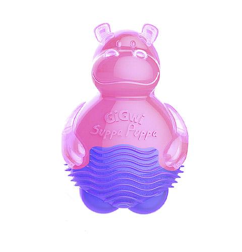 Игрушка для собак Бегемотик с пищалкой розовый 9 см GiGwi (1 шт)