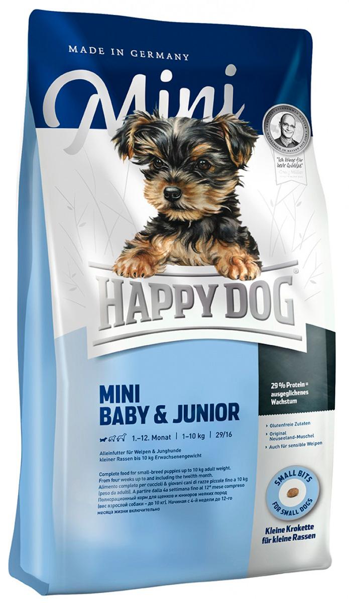Happy Dog Supreme Mini Baby & Junior для щенков маленьких пород (1 кг) фото