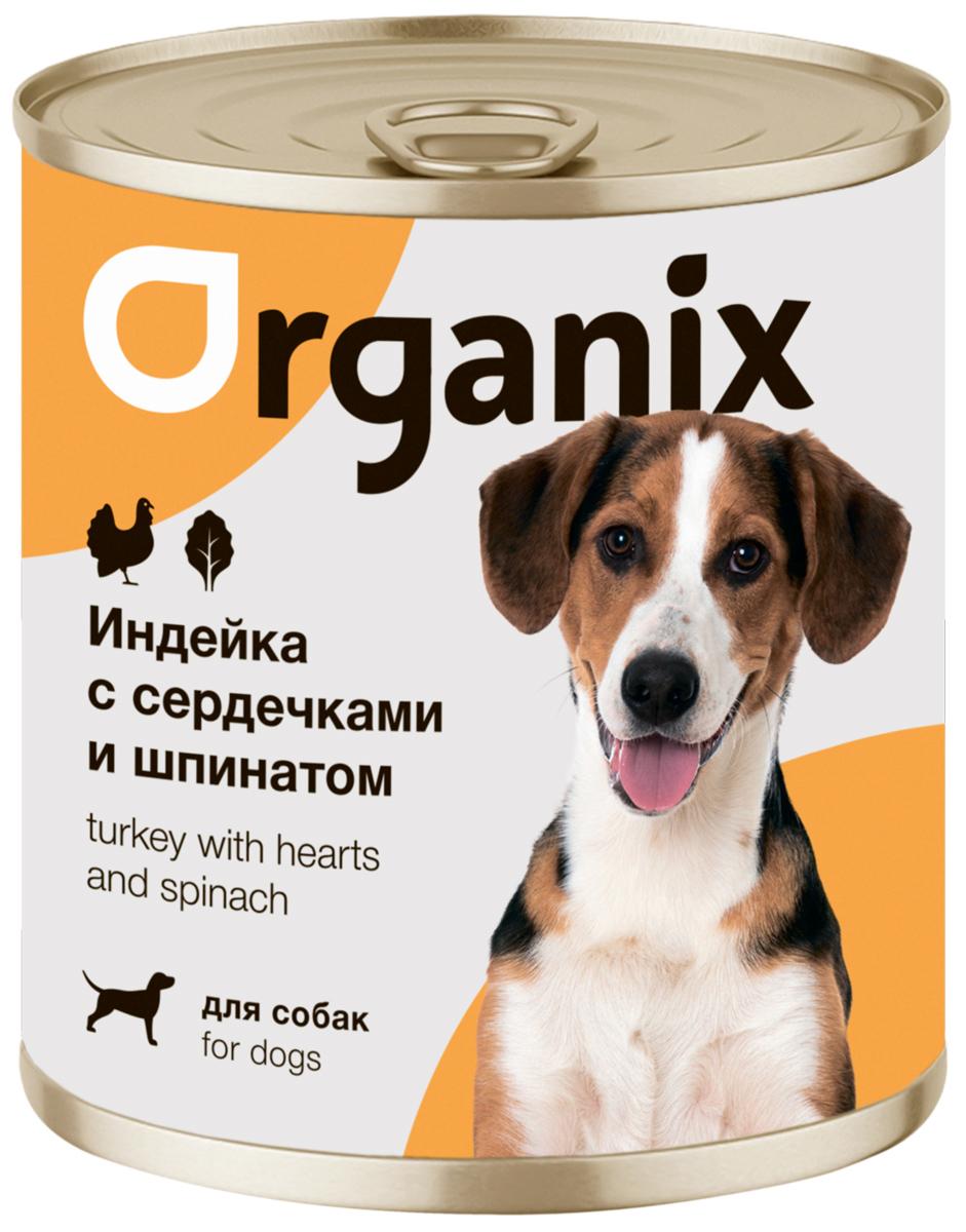 Organix для взрослых собак с индейкой, сердечками и шпинатом  (100 гр)