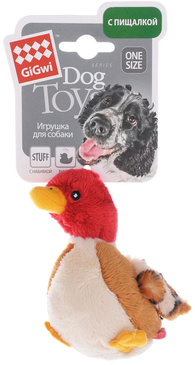 Игрушка для собак GiGwi Утка с пищалкой 11 см (1 шт)