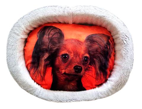 Лежак для собак PerseiLine Дизайн № 3 принт 37 овальный 49 х 33 х 16 см (1 шт)