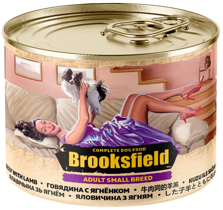 Brooksfield Adult Dog Small Breed для взрослых собак маленьких пород с говядиной, ягненком и рисом 200 гр (200 гр)