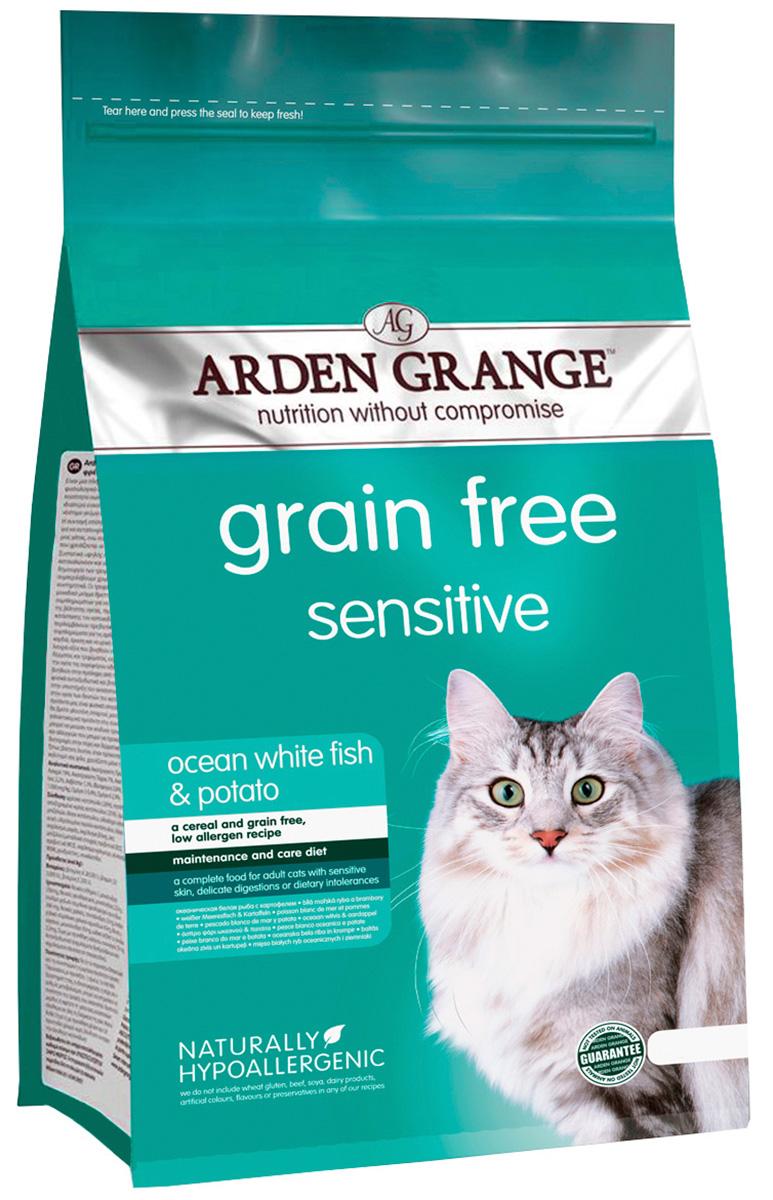 Arden Grange Sensitive Ocean White Fish  Potato беззерновой для взрослых кошек при аллергии с океанической белой рыбой и картофелем (04 кг).