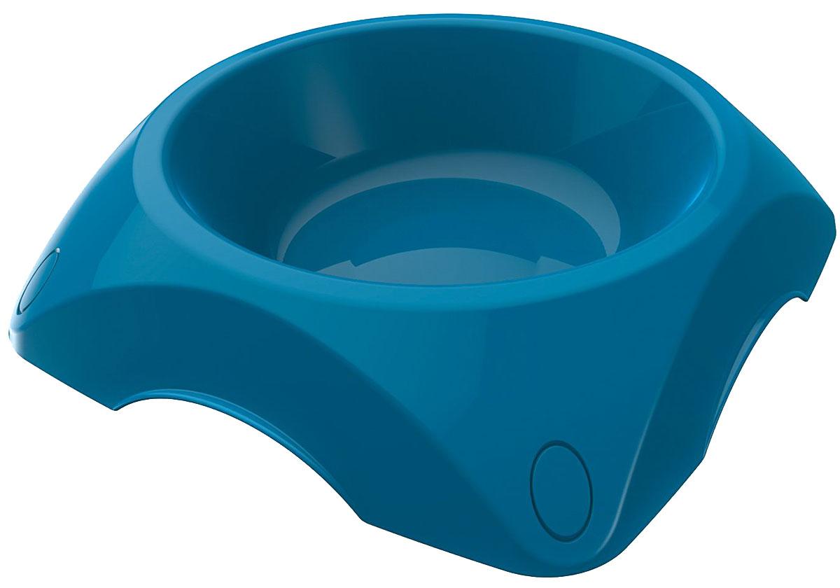 Миска пластиковая Bama Pet синяя 1200 мл (1 шт)