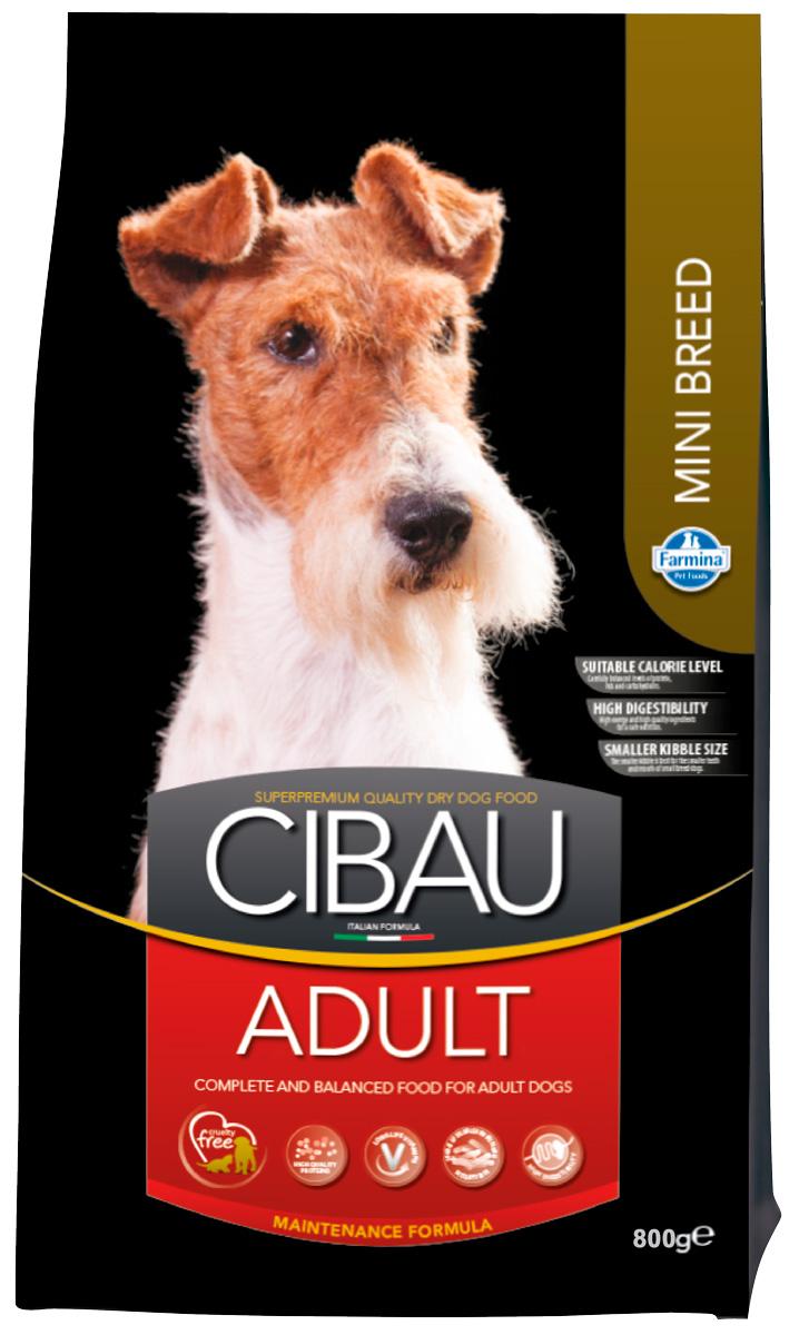 Cibau Adult Mini для взрослых собак маленьких пород с курицей (0,8 кг)