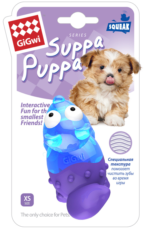 Игрушка для собак GiGwi Suppa Puppa Лиса с пищалкой 8 см (1 шт)