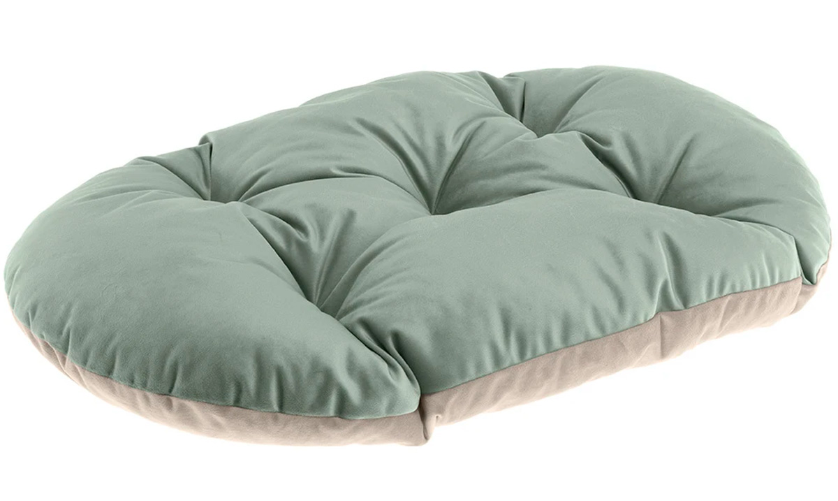 Подушка мягкая Ferplast Prince 45 велюр зелено-бежевая 43 х 30 см (1 шт) ferplast ferplast prince cushion велюровая подушка для кошек и собак розово бежевая размер 45 45х30 см