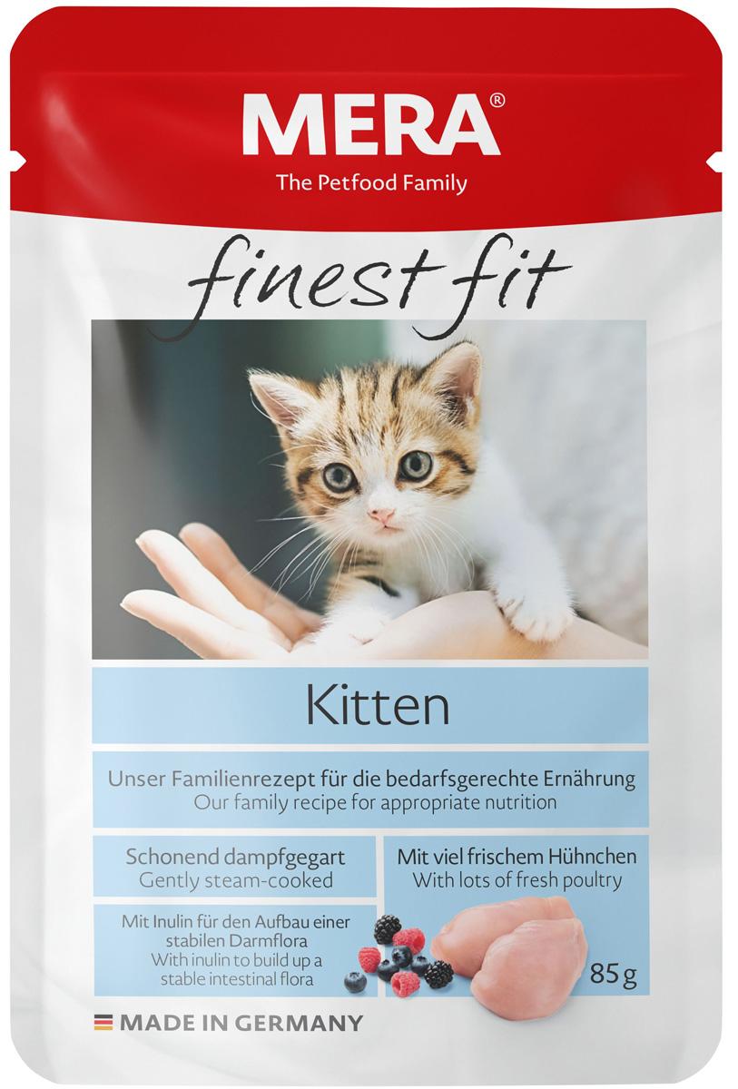 Купить со скидкой Mera Finest Fit Kitten для котят с птицей  (85 гр х 12 шт)