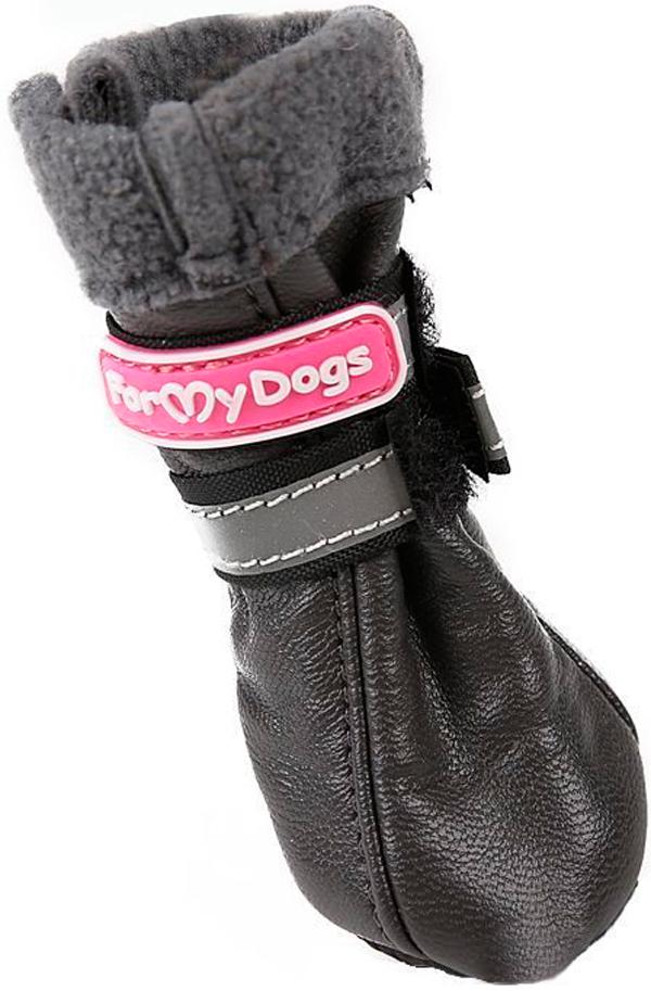 For My Dogs сапоги для собак кожаные на флисе зимние темно-серые Fmd618-2017 D.Grey (0)