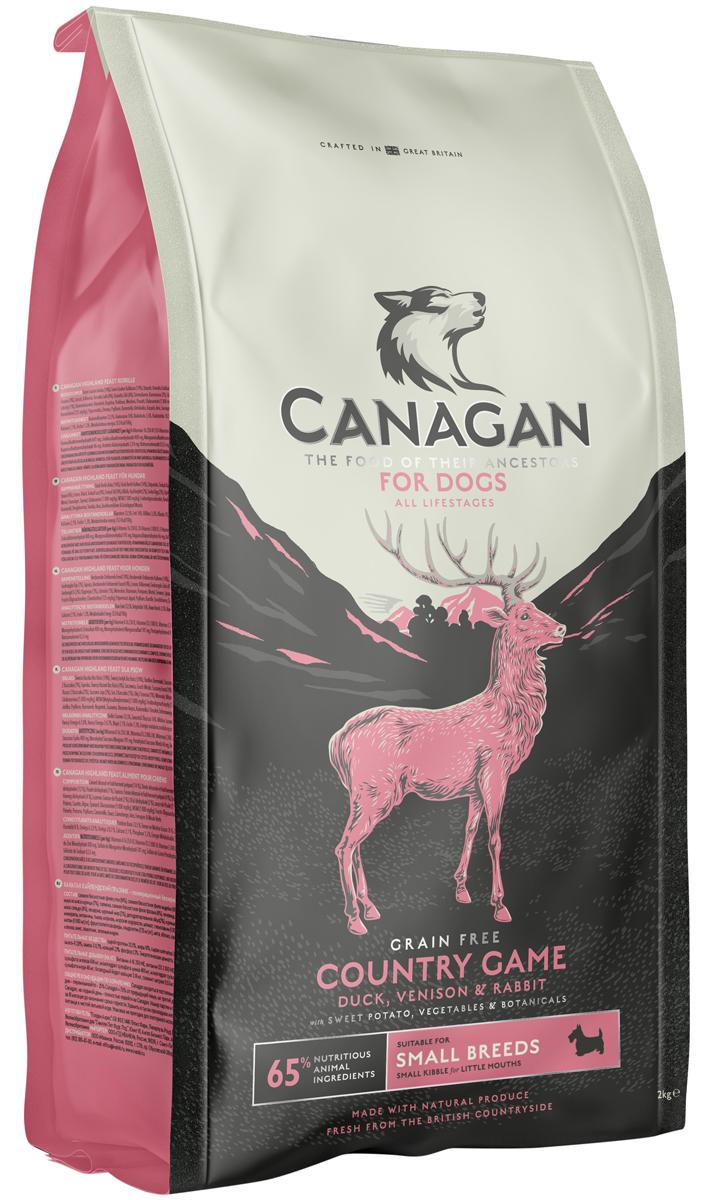 Canagan Grain Free Country Game Small Breed беззерновой для взрослых собак маленьких пород с уткой, олениной и кроликом (0,5 кг) фото