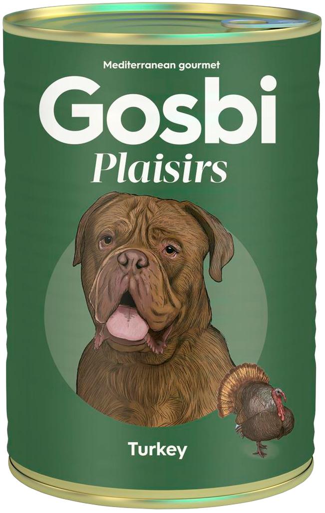 Gosbi Plaisirs Turkey беззерновые для взрослых собак с индейкой (400 гр) фото