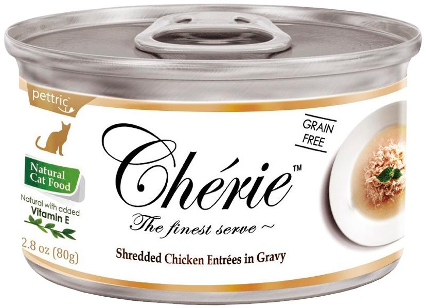Pettric Cherie Adult Cat Grain Free Chicken беззерновые для взрослых кошек с курицей в подливе 80 гр (80 гр)