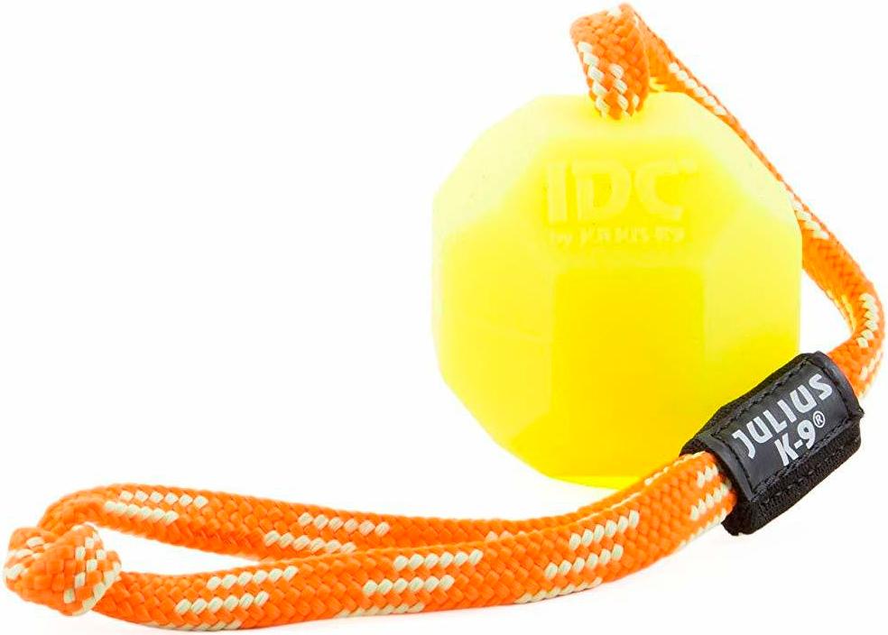 Игрушка для собак Julius-K9 Мяч с ручкой флуоресцентный силикон 6 см (1 шт)