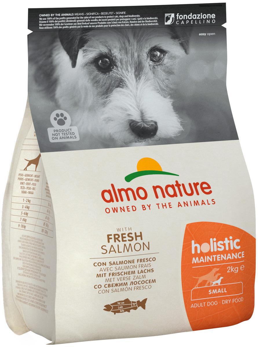 Almo Nature Adult Dog Small & Salmon для взрослых собак маленьких пород с лососем (0,4 кг) фото