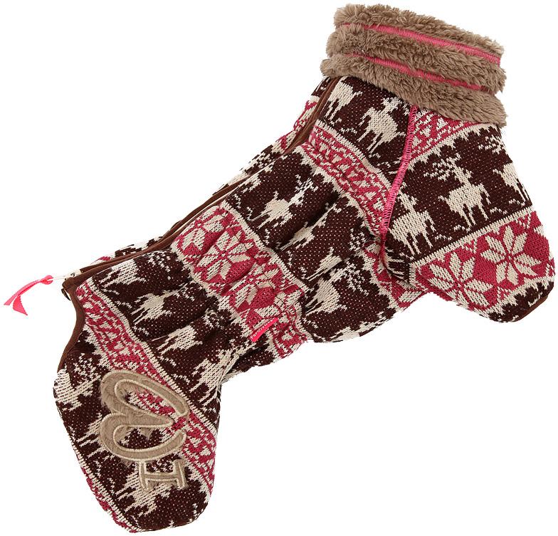 For My Dogs комбинезон для собак Сканди коричневый для девочек Fw548-2019 F (14)