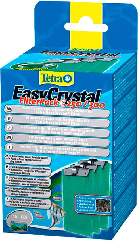 Фото - Катридж с углём Tetra Easycrystal Filter Pack C 250,300 (уп. 3 шт) (1 шт) tetra easy crystal filter pack c 100 набор сменных картриджей для аквариума tetra cascade globe 1 шт