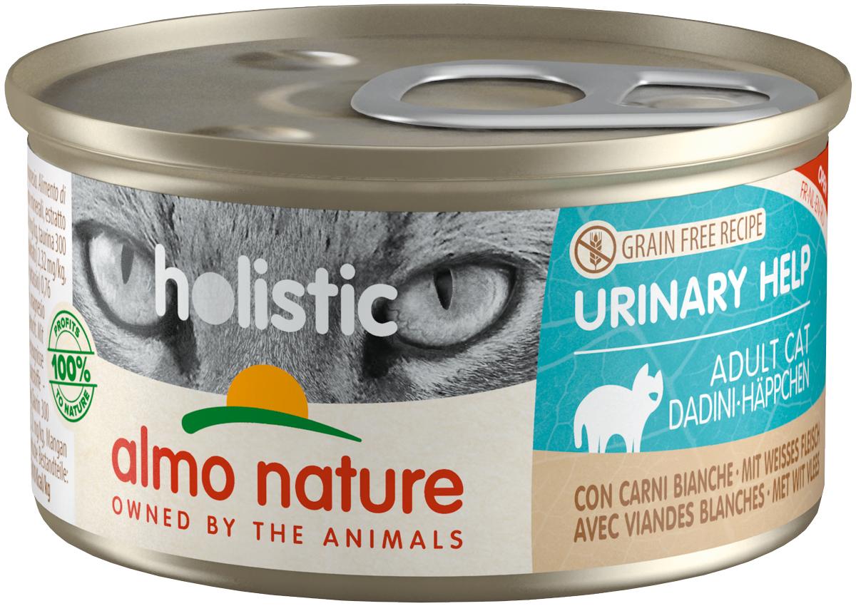 Almo Nature Cat Holistic Urinary Help беззерновые для взрослых кошек при мочекаменной болезни с белым мясом 85 гр (85 гр х 24 шт)