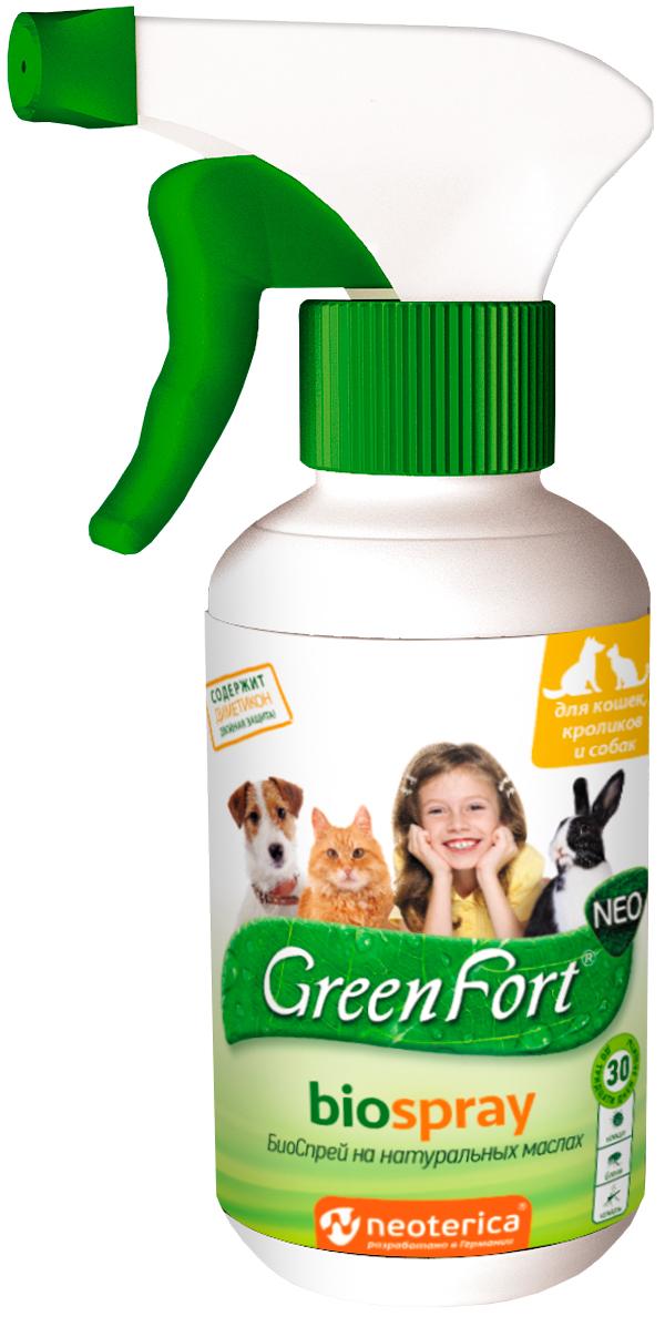 Green Fort Neo БиоСпрей для собак, кошек и кроликов против клещей, блох, власоедов и комаров (200 мл) фото