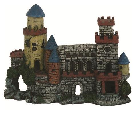 Картинка - Декорация для аквариума Замок с двумя башнями пластиковая, 27 х 10 х 20 см, Prime (1 шт)