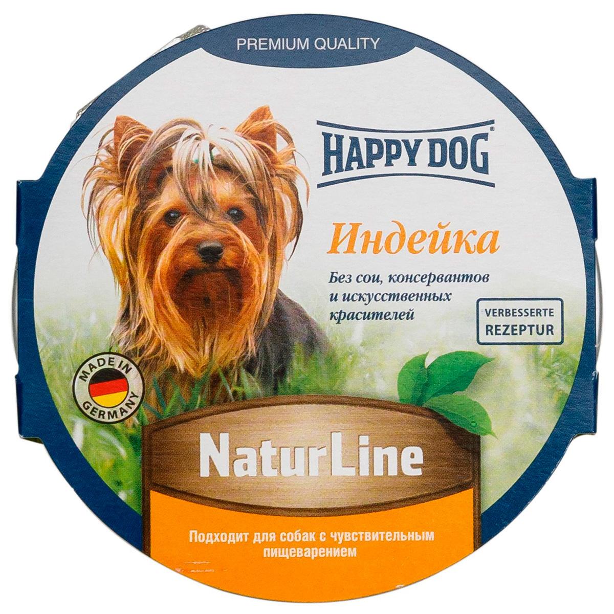 Happy Dog для взрослых собак паштет с индейкой 85 гр (85 гр)