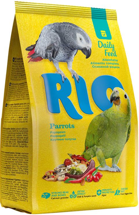 Rio Parrots – Рио корм для крупных попугаев (500 гр) rio корм daily feed для крупных попугаев 500 г