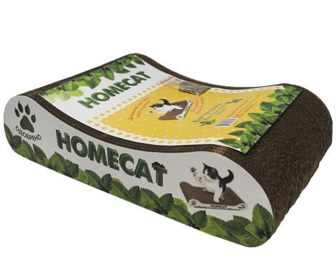 Homecat когтеточка картонная Мятная волна малая 41 х 24 х 10 см (1 шт)