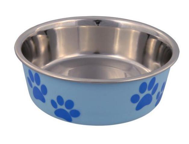 Trixie миска стальная с цветным покрытием (0,4 л) миска beeztees стальная с креплением для собак 300 мл