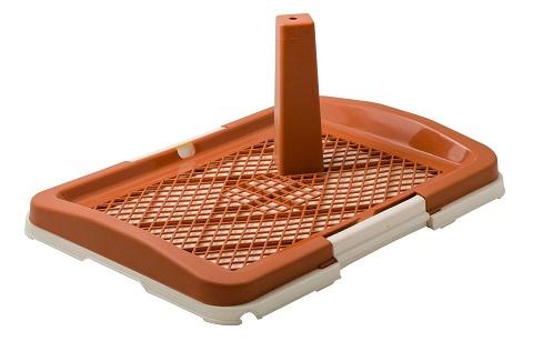 Туалет для собак со столбиком малый коричневый