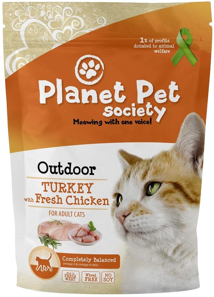 Planet Pet Outdoor Cat Turkey для активных кошек с индейкой (7 кг)