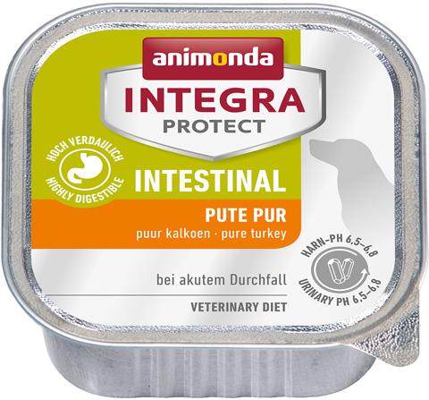 Animonda Integra Protect Dog Intestinal для взрослых собак при заболеваниях желудочно-кишечного тракта с индейкой 150 гр (150 гр х 11 шт) royal canin gastro intestinal puppy для щенков при заболеваниях желудочно кишечного тракта 195 гр 195 гр