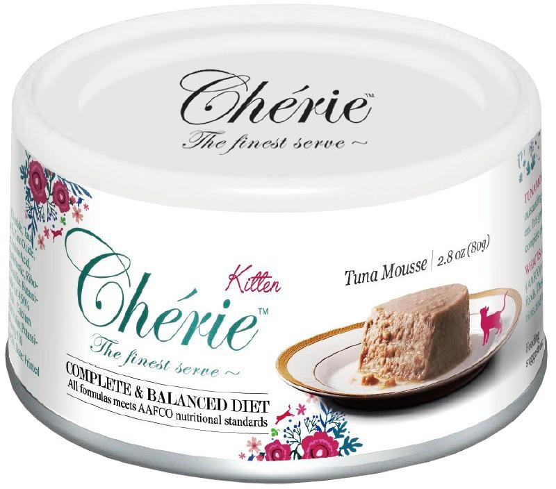Pettric Cherie Kitten Comlete & Balanced Diet Tuna беззерновые для котят мусс с тунцом 80 гр (80 гр х 24 шт)