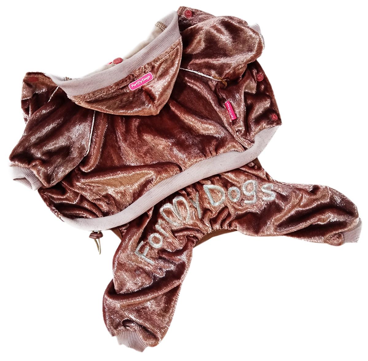 For My Dogs костюм для собак велюр коричневый 491ss-2020 Br (16)
