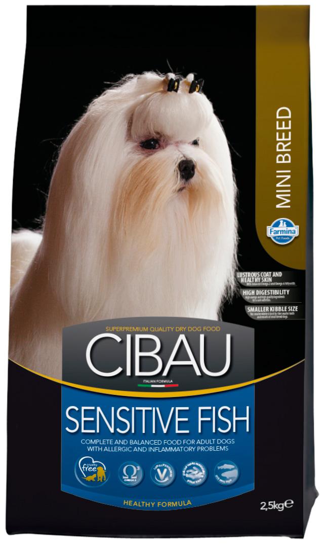 Cibau Sensitive Fish Mini для взрослых собак маленьких пород при аллергии с рыбой (0,8 кг)