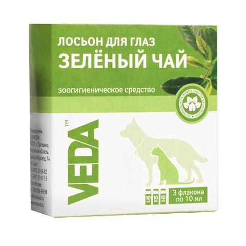 Фитоэлита лосьон для глаз для кошек и собак «Зеленый чай» Veda (10 мл)