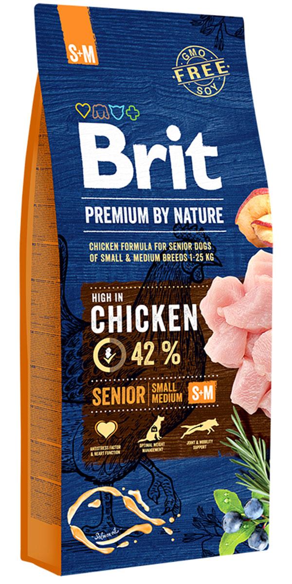 Brit Premium By Nature Senior S + M для пожилых собак маленьких и средних пород (8 + 8 кг)