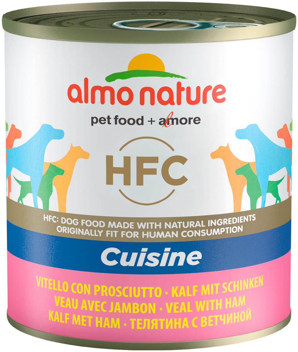 Almo Nature Dog Classic Hfc для взрослых собак с телятиной и ветчиной (95 гр х 24 шт) фото