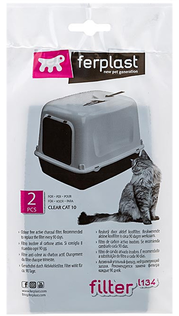 Ferplast L134 фильтр для туалета Clear Cat 10 (1 шт)