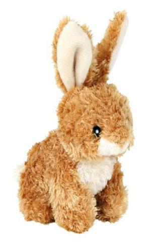 Trixie игрушка для собак «Кролик», плюш, с пищалкой (15 см)