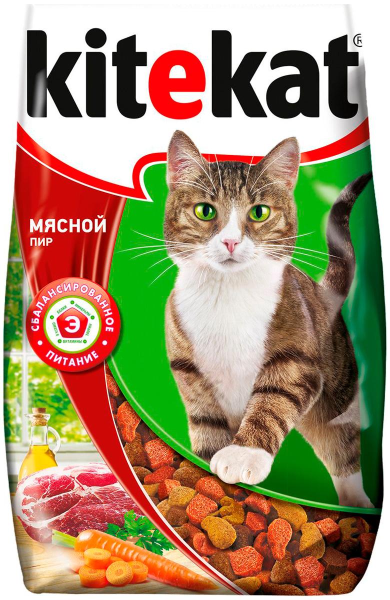 Картинка - Kitekat мясной пир для взрослых кошек  (0,8 кг)