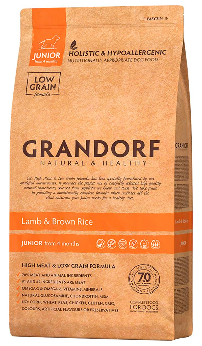 Grandorf Junior All Breeds Lamb & Rice для юниоров всех пород, беременных и кормящих сук низкозерновой с ягненком и рисом (3 + 3 кг)