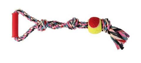 Trixie игрушка для собак «Веревка с теннисным мячом» (50 см)