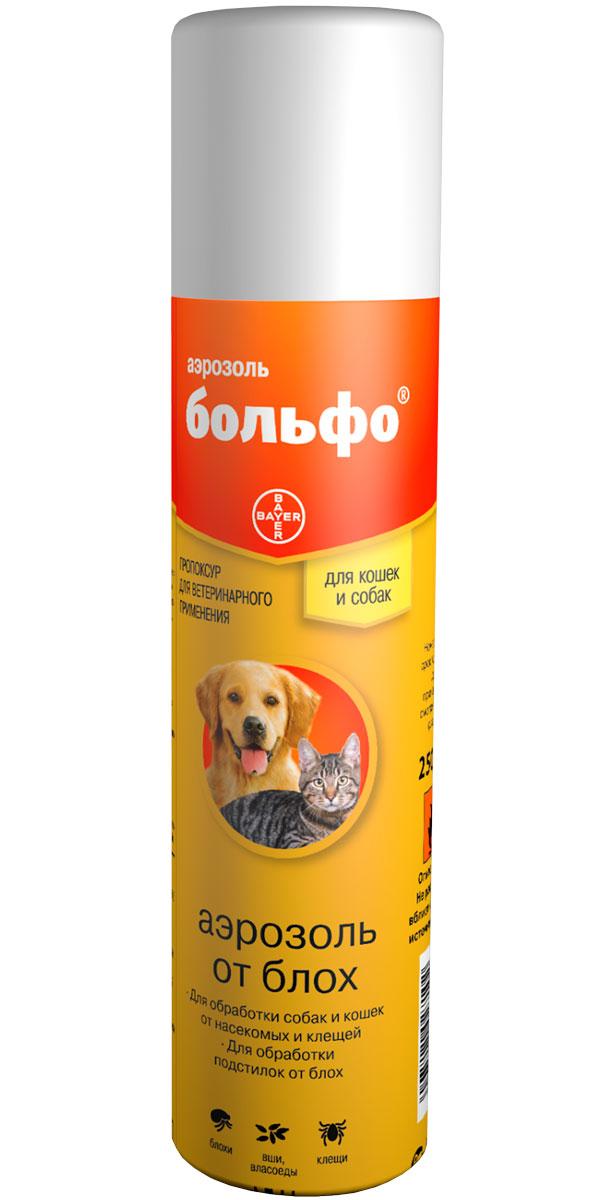 Bolfo – Больфо аэрозоль для собак и кошек против клещей, блох, вшей и власоедов Bayer (250 мл)