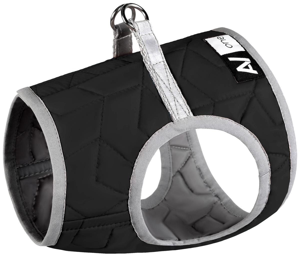 Шлея мягкая для собак Collar AiryVest One черная (xs4)