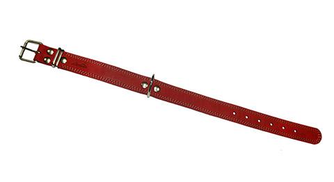 Ошейник для собак кожаный красный 46 - 60 см x 35 мм Аркон (1 шт)
