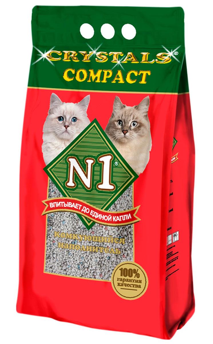Фото - № 1 Crystals Compact – Наполнитель комкующийся для туалета кошек (10 л) комкующийся наполнитель