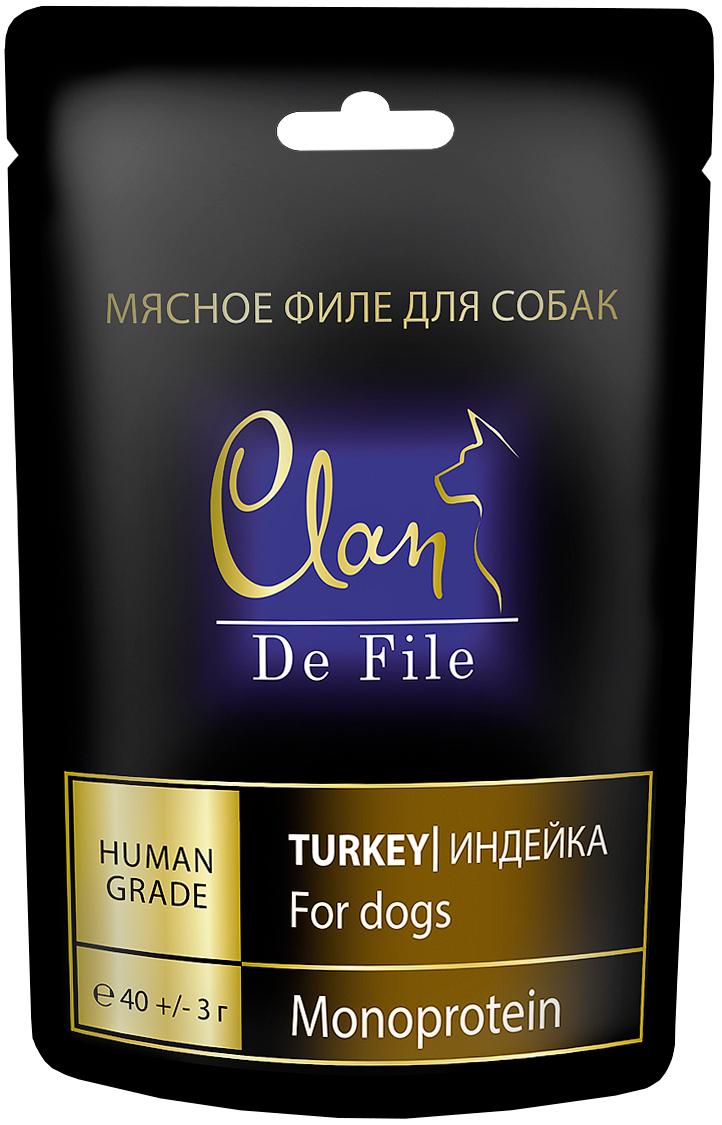 Лакомство Clan De File монобелковое для собак с индейкой (40 гр)