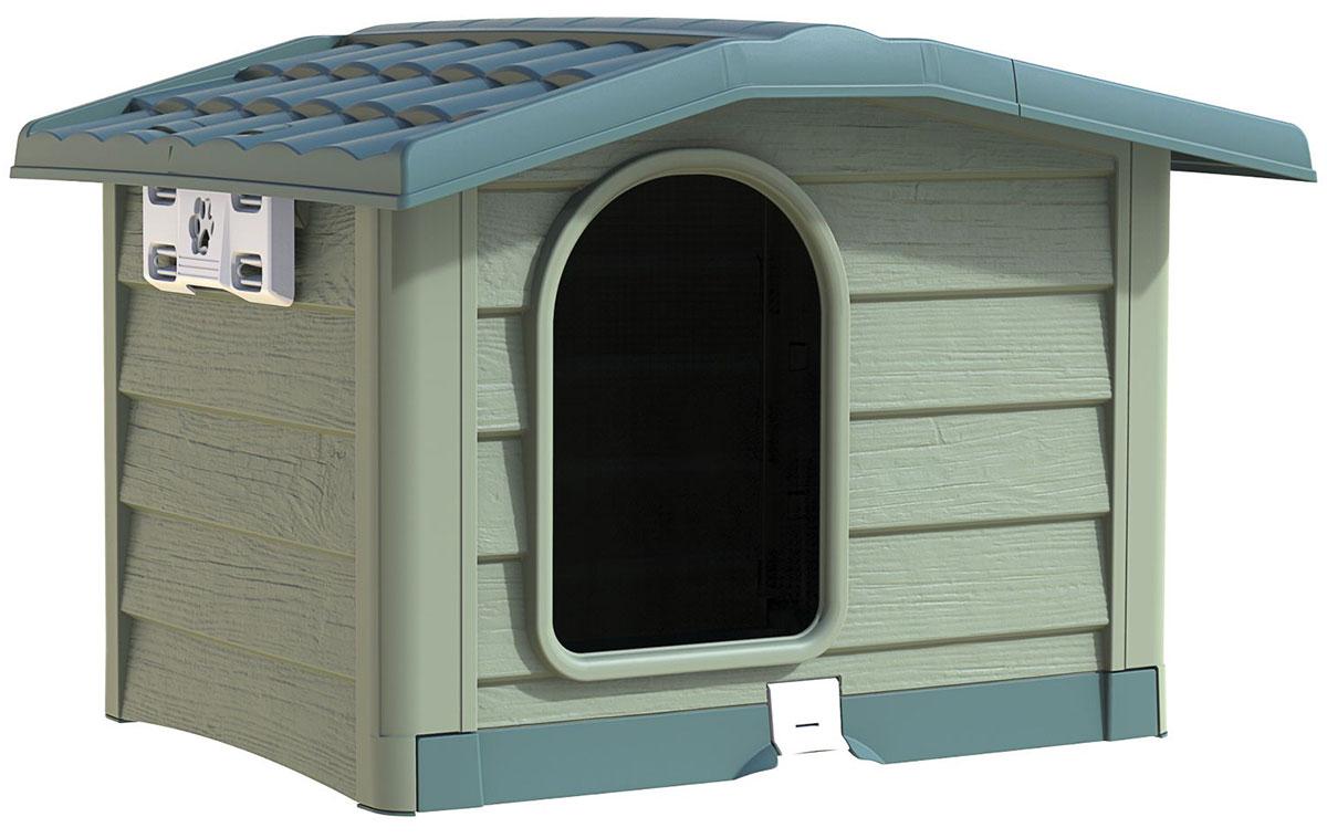 Будка для собак Bama Pet Bungalow L зеленый пластик 101 х 94 х 77 см (1 шт)