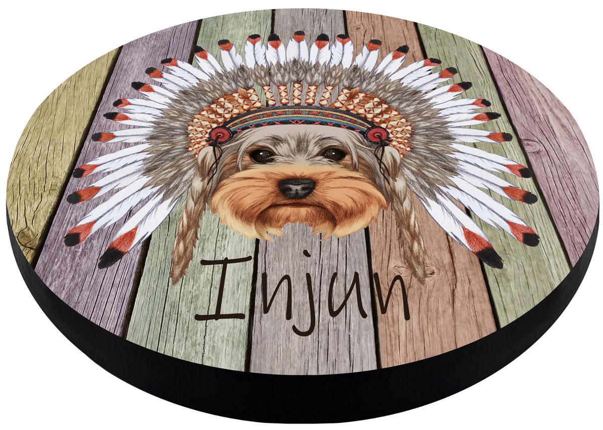 Матрас для собак PerseiLine Дизайн M Йорк-индеец круглый 47 х 47 х 6 см (1 шт)