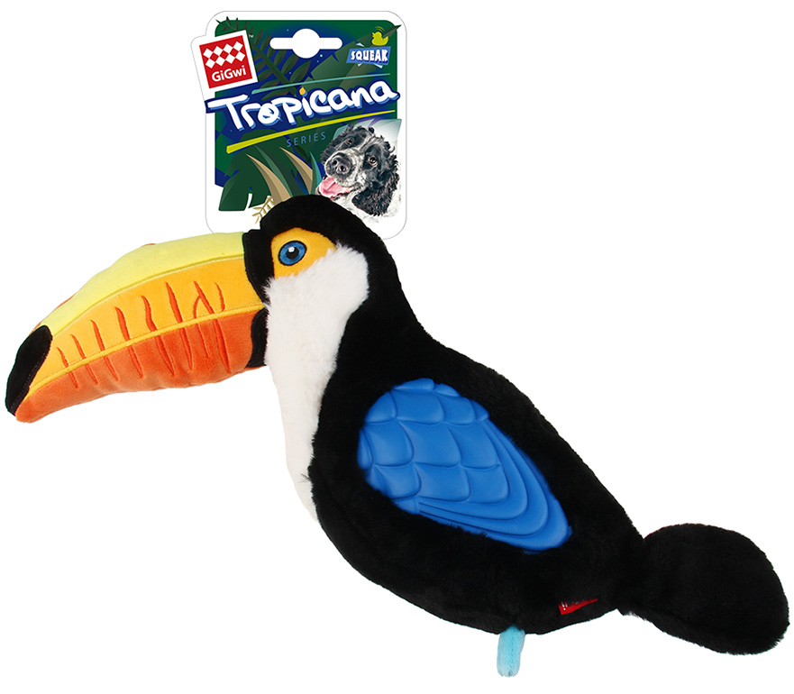 Игрушка для собак GiGwi Tropicana Тукан с пищалкой большой 38 см (1 шт)