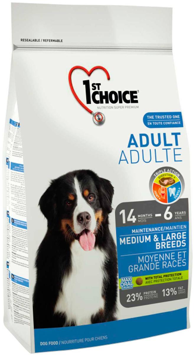 1st Choice Dog Adult Medium & Large Breeds для взрослых собак средних и крупных пород с курицей (15 кг)